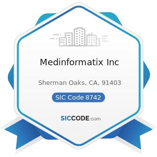 Medinformatix Inc - SIC Code 8742 - Management Consulting Services