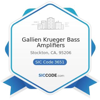 Gallien Krueger Bass Amplifiers - SIC Code 3651 - Household Audio and Video Equipment