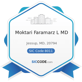 Moktari Faramarz L MD - SIC Code 8011 - Offices and Clinics of Doctors of Medicine