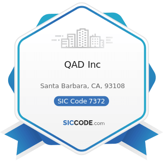 QAD Inc - SIC Code 7372 - Prepackaged Software