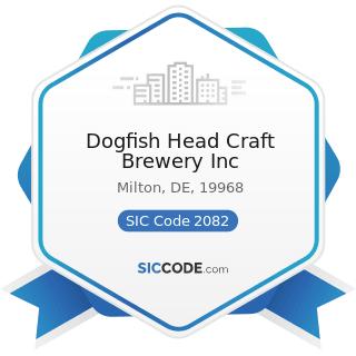 Dogfish Head Craft Brewery Inc - SIC Code 2082 - Malt Beverages