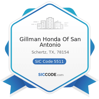 Gillman Honda Of San Antonio - SIC Code 5511 - Motor Vehicle Dealers (New and Used)