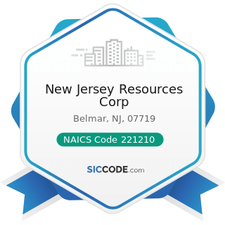New Jersey Resources Corp - NAICS Code 221210 - Natural Gas Distribution