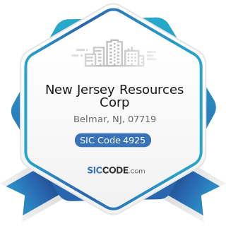 New Jersey Resources Corp - SIC Code 4925 - Mixed, Manufactured, or Liquefied Petroleum Gas...
