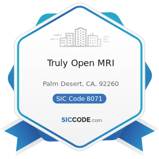 Truly Open MRI - SIC Code 8071 - Medical Laboratories