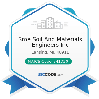 Sme Soil And Materials Engineers Inc - NAICS Code 541330 - Engineering Services