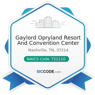 Gaylord Opryland Resort And Convention Center - NAICS Code 721110 - Hotels (except Casino...