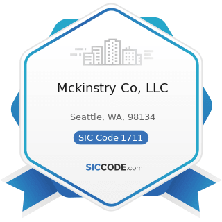 Mckinstry Co, LLC - SIC Code 1711 - Plumbing, Heating and Air-Conditioning