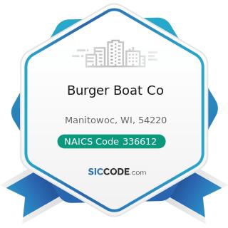 Burger Boat Co - NAICS Code 336612 - Boat Building