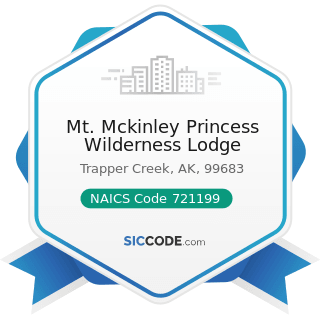 Mt. Mckinley Princess Wilderness Lodge - NAICS Code 721199 - All Other Traveler Accommodation