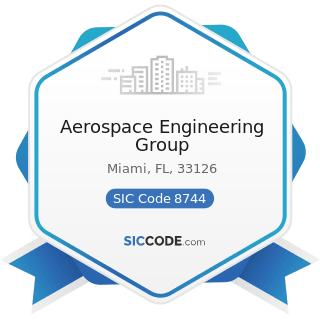 Aerospace Engineering Group - SIC Code 8744 - Facilities Support Management Services