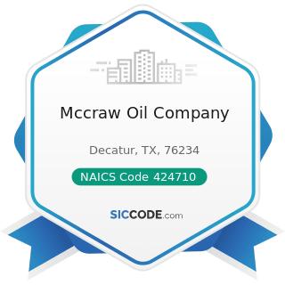 Mccraw Oil Company - NAICS Code 424710 - Petroleum Bulk Stations and Terminals