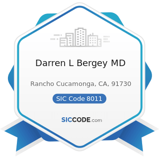 Darren L Bergey MD - SIC Code 8011 - Offices and Clinics of Doctors of Medicine