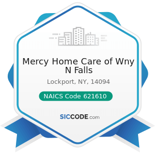 Mercy Home Care of Wny N Falls - NAICS Code 621610 - Home Health Care Services