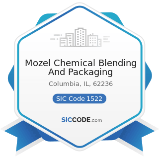 Mozel Chemical Blending And Packaging - SIC Code 1522 - General Contractors-Residential...