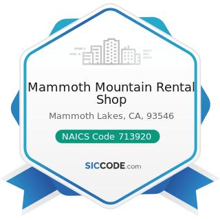 Mammoth Mountain Rental Shop - NAICS Code 713920 - Skiing Facilities