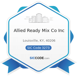 Allied Ready Mix Co Inc - SIC Code 3273 - Ready-Mixed Concrete