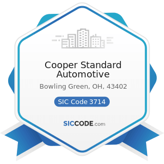 Cooper Standard Automotive - SIC Code 3714 - Motor Vehicle Parts and Accessories