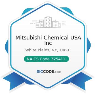 Mitsubishi Chemical USA Inc - NAICS Code 325411 - Medicinal and Botanical Manufacturing