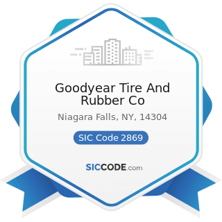 Goodyear Tire And Rubber Co - SIC Code 2869 - Industrial Organic Chemicals, Not Elsewhere...