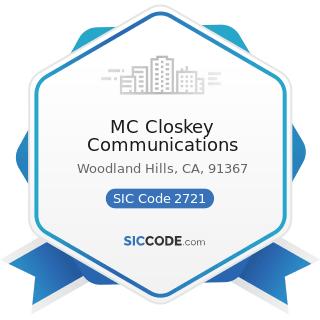 MC Closkey Communications - SIC Code 2721 - Periodicals: Publishing, or Publishing and Printing