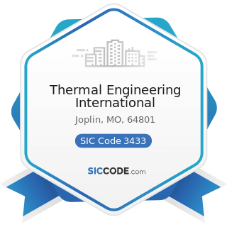 Thermal Engineering International - SIC Code 3433 - Heating Equipment, except Electric and Warm...