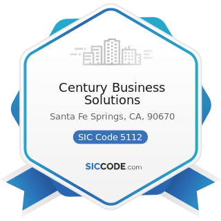 Century Business Solutions - SIC Code 5112 - Stationery and Office Supplies