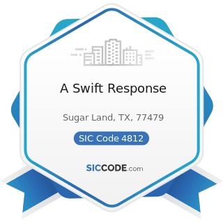 A Swift Response - SIC Code 4812 - Radiotelephone Communications