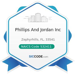 Phillips And Jordan Inc - NAICS Code 532411 - Commercial Air, Rail, and Water Transportation...