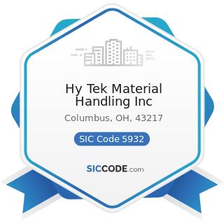 Hy Tek Material Handling Inc - SIC Code 5932 - Used Merchandise Stores