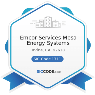 Emcor Services Mesa Energy Systems - SIC Code 1711 - Plumbing, Heating and Air-Conditioning