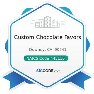 Custom Chocolate Favors - NAICS Code 445110 - Supermarkets and Other Grocery (except...