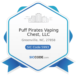 Puff Pirates Vaping Chest, LLC - SIC Code 5993 - Tobacco Stores and Stands