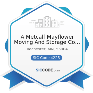 A Metcalf Mayflower Moving And Storage Co Inc - SIC Code 4225 - General Warehousing and Storage