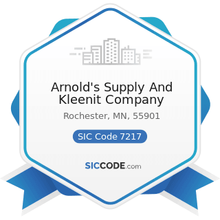 Arnold's Supply And Kleenit Company - SIC Code 7217 - Carpet and Upholstery Cleaning