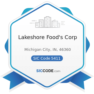 Lakeshore Food's Corp - SIC Code 5411 - Grocery Stores