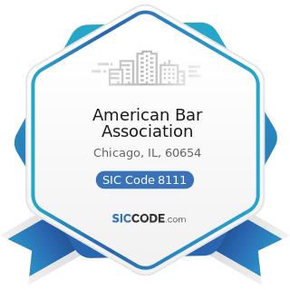 American Bar Association - SIC Code 8111 - Legal Services