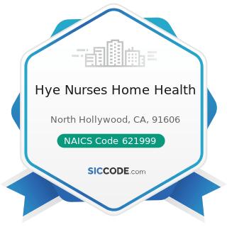 Hye Nurses Home Health - NAICS Code 621999 - All Other Miscellaneous Ambulatory Health Care...