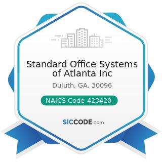 Standard Office Systems of Atlanta Inc - NAICS Code 423420 - Office Equipment Merchant...