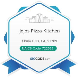 Jojos Pizza Kitchen - NAICS Code 722511 - Full-Service Restaurants