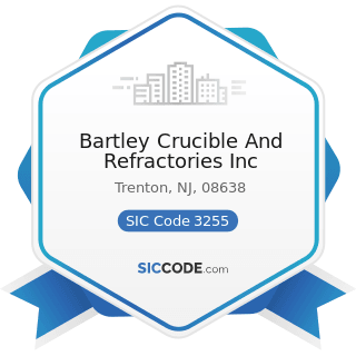 Bartley Crucible And Refractories Inc - SIC Code 3255 - Clay Refractories