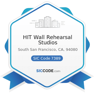 HIT Wall Rehearsal Studios - SIC Code 7389 - Business Services, Not Elsewhere Classified