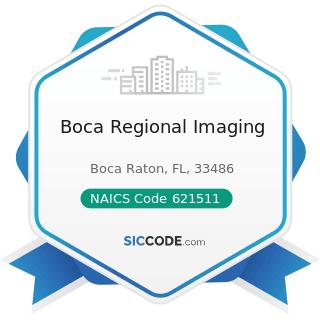 Boca Regional Imaging - NAICS Code 621511 - Medical Laboratories
