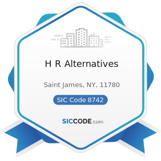 H R Alternatives - SIC Code 8742 - Management Consulting Services