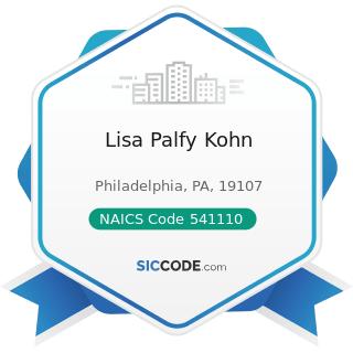 Lisa Palfy Kohn - NAICS Code 541110 - Offices of Lawyers