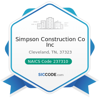 Simpson Construction Co Inc - NAICS Code 237310 - Highway, Street, and Bridge Construction