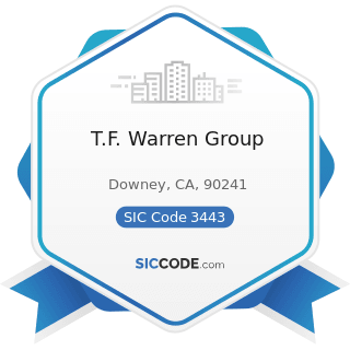 T.F. Warren Group - SIC Code 3443 - Fabricated Plate Work (Boiler Shops)