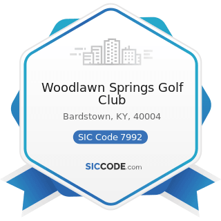 Woodlawn Springs Golf Club - SIC Code 7992 - Public Golf Courses