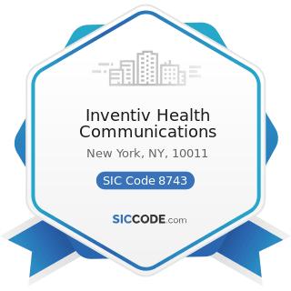 Inventiv Health Communications - SIC Code 8743 - Public Relations Services
