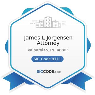 James L Jorgensen Attorney - SIC Code 8111 - Legal Services